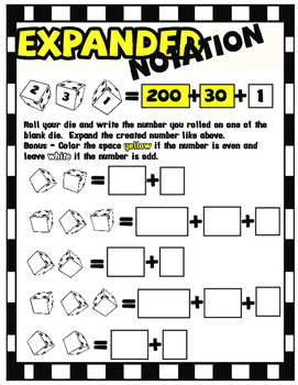 Expanded Notation Interactive Activities