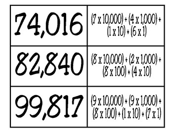 Expanded Notation Matching Activity (TEKS 3.2A)