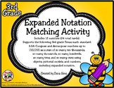 Expanded Notation Matching Activity (TEKS 3.2A) STAAR Practice