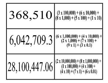 Expanded Notation Matching Activity (TEKS 4.2B)
