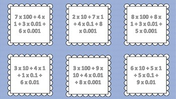 Expanded Notation Matching Game