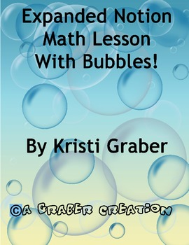 Expanded Notation Math with Bubbles Full Lesson Common Core