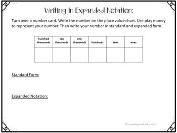 Expanded Notation Mini-Lesson