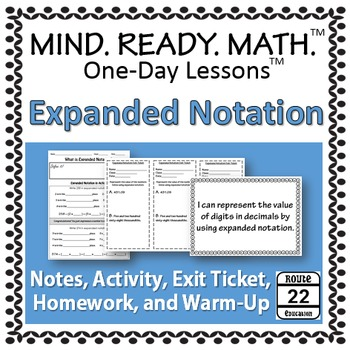 Expanded Notation Notes and Activity TEKS 5.2A