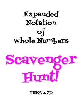 Expanded Notation Scavenger Hunt 4.2B