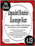 Expanded Notation Scavenger Hunt (TEKS 4.2B) STAAR Practice