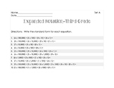 Expanded Notation Set A-Third Grade STAAR practice