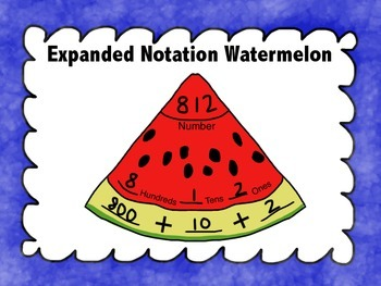 Expanded Notation Watermelon