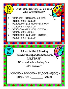 Expanded Notation: Whole Numbers and Decimals (TEKS 4.2B)