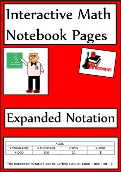 Expanded Notation for Interactive Math Notebooks