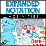 Expanded Notation of Decimals Activities
