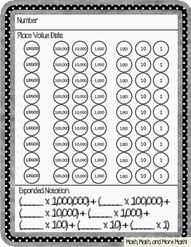 Expanded Notation of Whole Numbers (up to 7 digits)