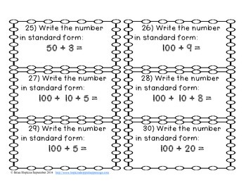 Expanded Notation to 120 Task Cards