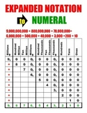 Expanded Notation to Numeral