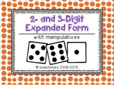 {FREEBIE} 2- and 3-Digit Expanded Form with Manipulatives