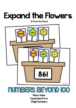 Expanded Numbers {Expand the Flowers}