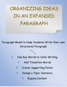 Expanded Paragraph Writing