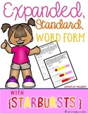 Expanded, Standard, & Word Form {Starburst Activity}