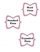 Expanded, Standard, Word Form card sort
