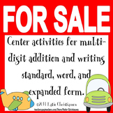 Expanded, Standard, and Word Form and Multi-Digit Addition Activities