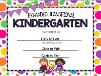Expanded Transitional Kindergarten/ ETK End of Year {Edita