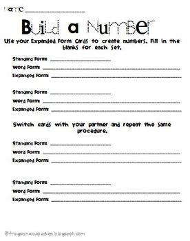 Expanded (Value) Form Cards Activity Page