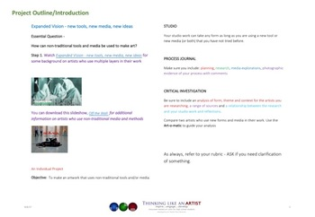 Expanded Vision - new tools, new media, new ideas - IB DP Visual Arts project
