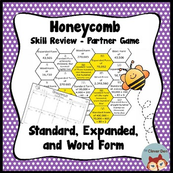 Expanded and Word Form - Place Value - Honeycomb Partner Game