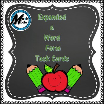 Expanded and Word Form Task Cards