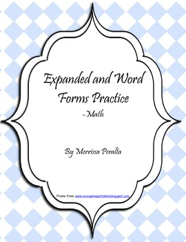Expanded and Word Forms Practice-Math