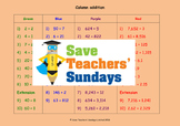 Expanded column addition lesson plans, worksheets and other teaching resources