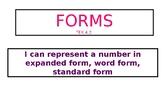 Expanded form etc. TEK 4.2