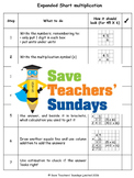 Expanded short multiplication lesson plans, worksheets and more