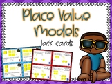 Place Value Models Task Cards (Boom Cards also Included)
