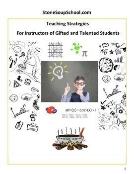 Kindergarten Bundle for Gifted and Talented Students