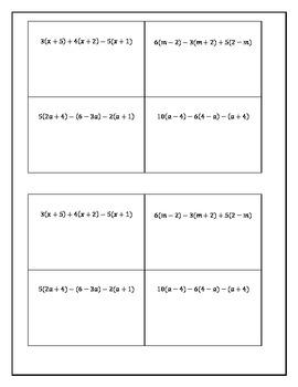 Expanding Algebraic Expressions: Jigsaw Activity