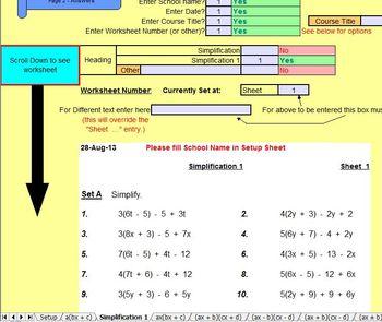 Expanding Brackets - Worksheets - Whiteboard