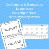 Expanding & Condensing Logarithms Scavenger Hunt (with Mystery Word Scramble)
