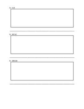 Expanding Decimals Practice Sheet