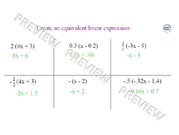 Expanding Linear Expressions