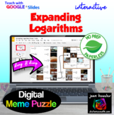 Expanding Logarithms Fun MEME Puzzle, Mystery Picture with GOOGLE Slides™