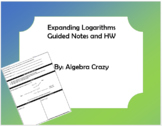 Expanding Logarithms Guided Notes and HW