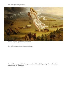Expanding Markets and Moving West Manifest Destiny worksheet ...