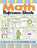 Expanding Math Reference Sheet Bundle