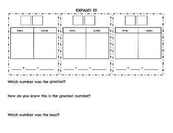Expanding Place Value - Ones and Tens