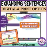 Digital Expanding Sentences   Elaboration Practice   Gramm