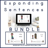 Expanding Sentences Bundle: Adjectives/Prepositions (No Print)(Boom Card Lesson)