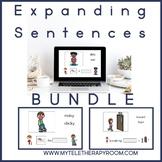 Expanding Sentences Bundle: Adjectives/Prepositions (No Print)(Boom Card Lesson)