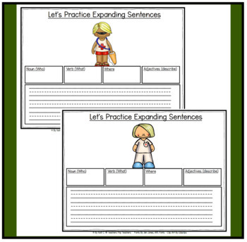 Parts of Speech: Expanding Sentences with Community Helpers for K-2