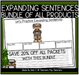 Expanding Sentences- BUNDLE of All Packets (Nouns, Verbs, Adjectives and Setting